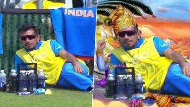 World Cup 2019: IND vs SL सामन्यात बाउंड्री लाईन वर आराम करताना दिसला युझवेन्द्र चहल, यूजर्सने गमतीशीर मिम्सद्वारे केले ट्रोल