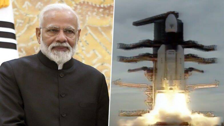 चांद्रयान-2 अवकाशात झेपावले, 'ISRO'च्या  ऐतिहासिक कामगिरीचं पंतप्रधान नरेंद्र मोदी यांच्याकडून कौतुक