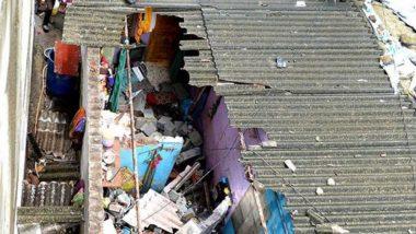 पालघर येथे मुसळधार पावसामुळे घराचे छत कोसळून 4 जण जखमी