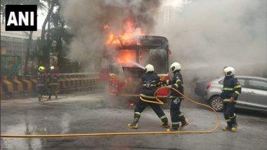 मुंबई: मांटुगा किंग्स सर्कल जवळ BEST Bus ने अचानक घेतला पेट; सुदैवाने जीवितहानी नाही