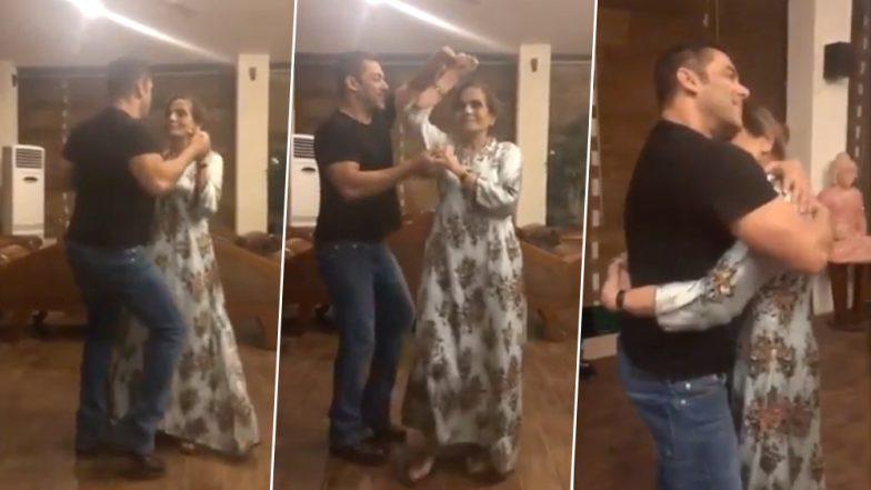 सलमान खान जेव्हा त्याच्या आईसोबत इंग्रजी गाण्यावर थिरकतो; पहा व्हिडिओ