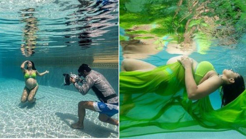 अभिनेत्री समीरा रेड्डी हिचे पाण्याखालील Baby Bump मधील फोटो सोशल मीडियात व्हायरल (Photo)