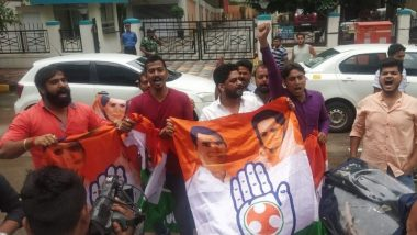 मुंबई: कर्नाटकातील आमदारांनी राजीनामा मागे घ्यावा, सोफीटल हॉटेल बाहेर काँग्रेस कार्यकर्त्यांची घोषणाबाजी