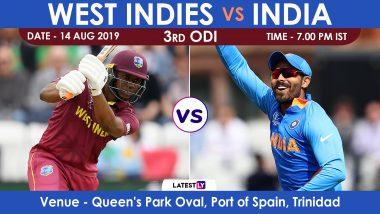 Live Streaming of IND vs WI, 3rd ODI Match: भारत विरुद्ध वेस्ट इंडिज लाईव्ह सामना आणि स्कोर पहा Sony Ten आणि SonyLiv Online वर