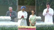 Rajiv Gandhi 75th birth anniversary: काँग्रेस अध्यक्षा सोनिया गांधी यांच्यासह अनेक दिग्गज नेत्यांनी घेतले राजीव गांधी यांच्या समाधीचे दर्शन
