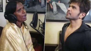 रेल्वे स्टेशनवर गाणारी रानू मंडल रातोरात झाली स्टार, हिमेश रेशमिया सोबत गायले हे सुंदर गाणे, Watch video