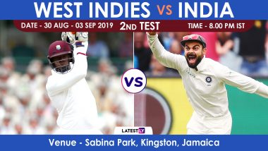 Live Streaming of IND vs WI, 2nd Test Day 1: भारत विरुद्ध वेस्ट इंडिज लाईव्ह सामना आणि स्कोर पहा Sony Ten आणि SonyLiv Online वर