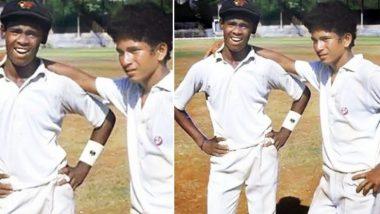 Friendship Day 2019 च्या पूर्वसंध्येला सचिन तेंडुलकर आणि विनोद कांबळी यांनी दिला बालपणीच्या आठवणींना उजाळा; पहा फोटो