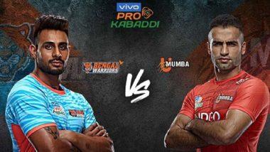 Pro Kabaddi 2019: बंगाल वॉरियर्सचा यू मुम्बा विरुद्ध 32-30 ने थरारक विजय, मागील तीन मोसमातील पहिला विजय