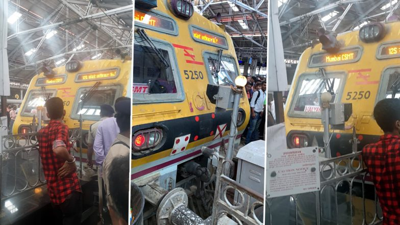 मुंबई: सीएसएमटी रेल्वे स्टेशनवर बफरला धडकली लोकल; फलाट क्रमांक तीनवर घडली घटना