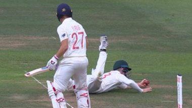 Ashes 2019: इंग्लंडविरुद्ध कॅमेरून बॅनक्रॉफ्ट याने टिपला रोरी बर्न्स याचा अफलातून एक हाती कॅच, पहा Video