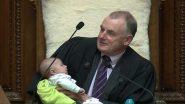व्हिडिओ: न्यूजीलैंड संसदेचं कामकाज सुरु असताना अध्यक्षांनी खेळवलं खासदाराचं बाळ, त्याला दूधही पाजले