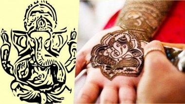 Ganeshotsav 2019: गणेशोत्सवाच्या सोहळ्यात बाप्पाच्या डिझाईनची मेहेंदी वाढवेल तुमच्या हाताचे सौंदर्य, नक्की ट्राय करा (Watch Video)