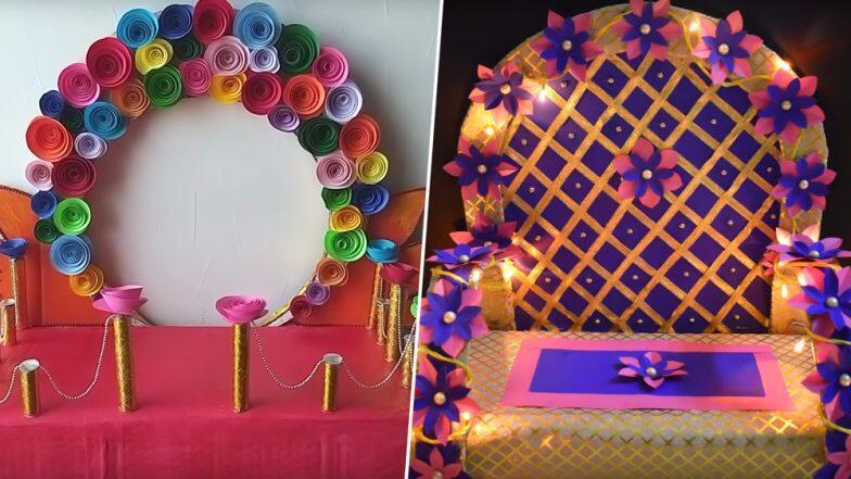 Ganeshotsav 2019: यंदा बाप्पासाठी बनवा खास इको फ्रेंडली मखर; थर्माकॉल, प्लॅस्टिकला रामराम करून निवडा 'हे' पर्याय