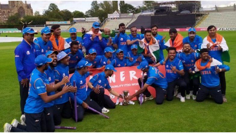 Physical Disability World Cricket टी-20 स्पर्धेत भारताला विश्वविजेतेपद, फायनलमध्ये इंग्लंडचा 36 धावांनी केला पराभव
