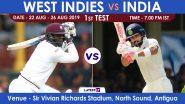 Live Streaming of IND vs WI, 1st Test Day 1: भारत विरुद्ध वेस्ट इंडिज लाईव्ह सामना आणि स्कोर पहा Sony Ten आणि SonyLiv Online वर