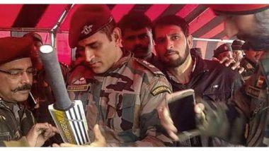 एमएस धोनी याच्या मिशन काश्मीरला सुरुवात, Army कॅम्पमधील पाहिल्यादिवसाचा फोटो सोशल मीडियावर Viral