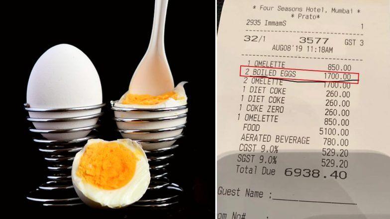 मुंबई: Four Season हॉटेल मध्ये दोन उकडलेल्या अंड्यांची किंमत 1700 रुपये, नेटकऱ्यांना आठवला राहुल बोस चा प्रसंग
