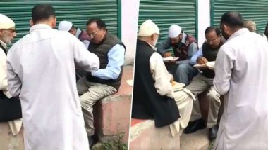 Article 370: राष्ट्रीय सुरक्षा सल्लागार अजित डोभाल यांनी काश्मीरी नागरिकांसोबत केले भोजन; व्हिडिओ व्हायरल
