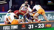 Pro Kabaddi 2019: Puneri Platan यांची 31 गुण मिळवत Bengaluru Bulls विरोधात विजयाची खेळी