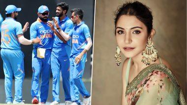 IND vs WI 2019: टीम इंडिया-भारतीय उच्चयुक्त भेटीदरम्यान अनुष्का शर्मा हिच्याकडूनग्रुप फोटो 'नको रे बाबा'