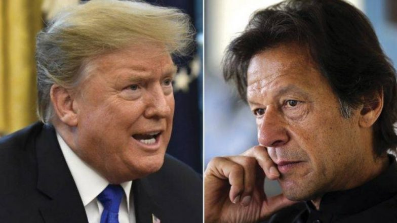 पाकिस्तान पंतप्रधान इम्रान खान यांनी काश्मीर मुद्द्यावर संयम बाळगावा, डोनाल्ड ट्रम्प यांचा सल्ला