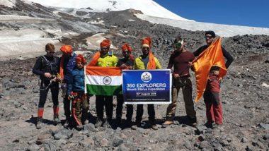 युरोपातील सर्वोच्च शिखर Mount Elbrus वर 73 फुटी तिरंगा फडकवत महाराष्ट्रातील '360 एक्सप्लोरर'च्या गिर्यारोहकांनी साजरा केला स्वातंत्र्यदिन; टीममध्ये 10 वर्षीय साई कवडे याचाही समावेश