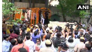 Arun Jaitley Funreal Live Update: अरुण जेटली यांचे पार्थिव भाजपा मुख्यालयात नेण्यासाठी रवाना