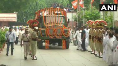 Arun Jaitley Funreal Live Update:अरुण जेटली यांचे पार्थिव BJP मुख्यालयात दाखल