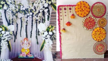 Ganesh Chaturthi Flower Decoration Ideas: यंदा गणपतीची आरास आकर्कष फुलांच्या मदतीने करण्यासाठी खास डेकोरेशन आयडियाज