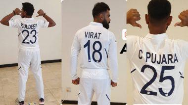 IND vs WI 1st Test: पहिल्या टेस्ट मॅचपूर्वी नवीन टेस्ट जर्सीमध्ये टीम इंडियाने केला खास फोटोशूट, पहा हे Photos