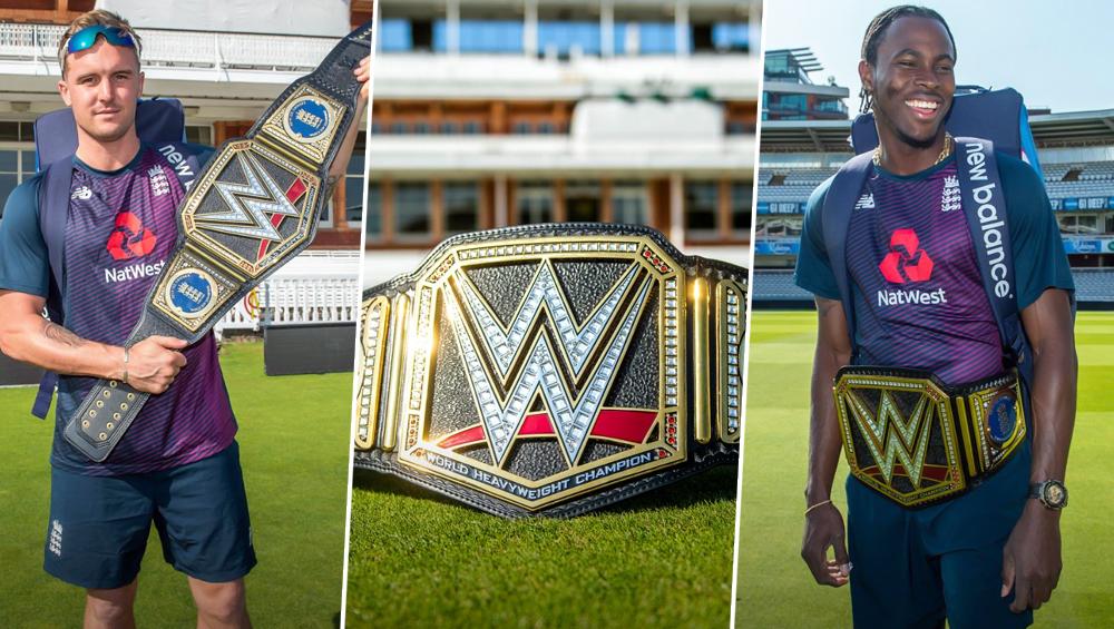 सुपरस्टार Triple H यांच्याकडून विश्वचषक विजेता इंग्लंड क्रिकेट संघाला WWE Championship बेल्ट गिफ्ट, पहा हे Photos
