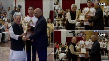 Bharat Ratna 2019: प्रणब मुखर्जी, भूपेन हजारिका आणि नानाजी देखमुख यांना राष्ट्रपती रामनाथ कोविंद यांच्या हस्ते 'भारत रत्न' पुरस्कार प्रदान