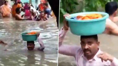 वडोदरा: 45 दिवसांच्या चिमुकल्यासाठी पोलिस बनला 'वासुदेव'; गळाभर पाण्यात उतरून केली सुखरूप सुटका; सोशल मीडीयात होतेय कौतुक (Watch Video)
