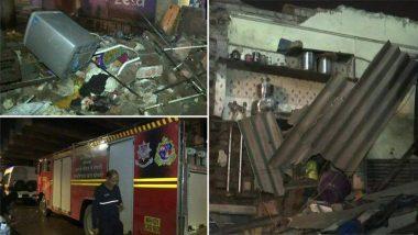 मुंबई: असल्फा मेट्रो स्टेशन जवळ घराची भिंत कोसळली; 3 जणांची सुरक्षित सुटका