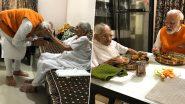 गुजरात: पंतप्रधान नरेंद्र मोदी यांनी घेतली 69व्या वाढदिवसादिवशी आई हीराबेन यांची भेट