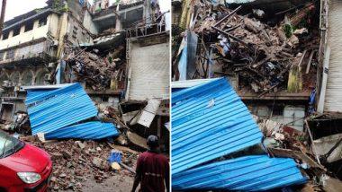 मुंबई: क्रॉफर्ड मार्केट मधील 4 मजली इमारतीचा भाग कोसळला, अग्निशमन दल घटनास्थळी दाखल