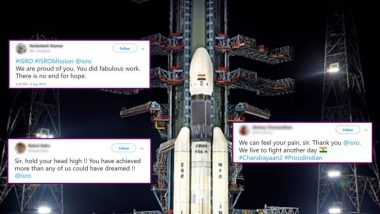 सोशल मीडीयावर ISRO संशोधकांना सलाम करण्यासाठी मीम्सचा पाऊस; सामान्यांपासून दिग्गजांकडून चांद्रयान 2 मोहिमेतील प्रयत्नांचं कौतुक!