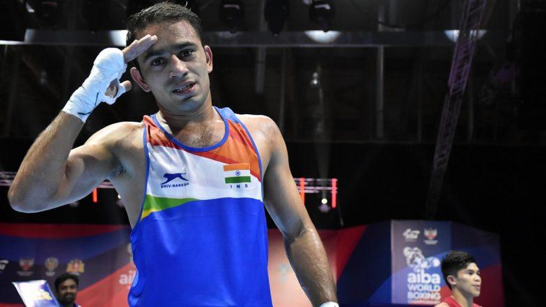 बॉक्सर अमित पांघळ याने रचला इतिहास,World Boxing Championships च्या फायनलमध्ये पोहचणारा बनलापहिला भारतीय