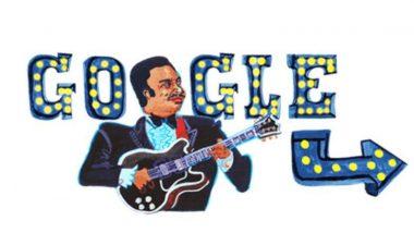 बी.बी.किंग यांचा 94 वा स्मृतिदिन: अमेरिकेचे सुप्रसिद्ध गायक बी.बी किंग यांच्या 94 व्या जयंती निमित्त गुगलने बनवले खास डूडल, ऍनिमेटेड व्हिडिओच्या माध्यमातून दिला त्यांच्या आठवणींना उजाळा