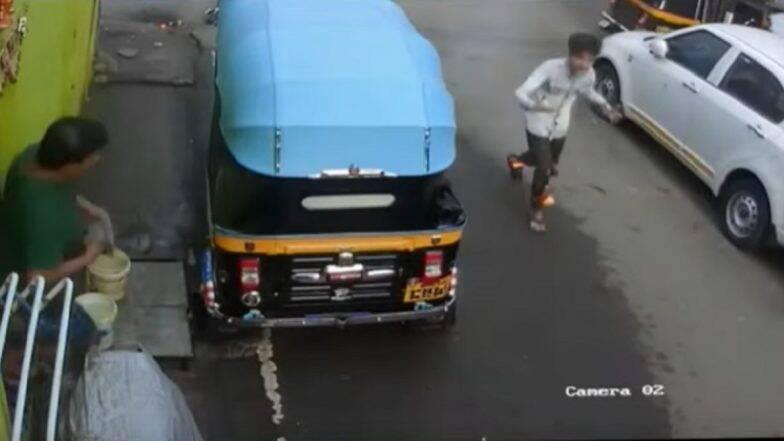 नवी मुंबई: रस्त्यात उघड्यावर पडलेल्या विद्युत तारेवर पाय पडताच उडाला आगीचा भडका, तरुण गंभीर जखमी