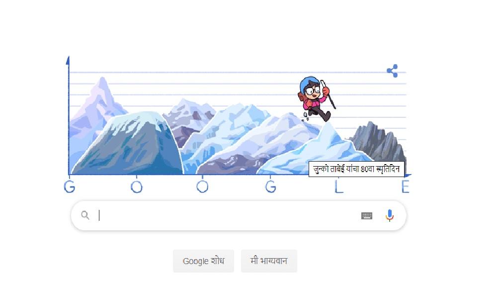 Junko Tabei Google Doodle: एव्हरेस्ट पार करणाऱ्या पहिल्या महिला जुन्को ताबेई यांच्यावर खास गूगल डूडल