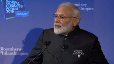 Bloomberg Business Summit: पंतप्रधान मोदी यांनी सांगितला भारताच्या विकासाचा 'फोर डी' फॅक्टर