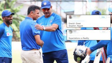 BCCI ने रवि शास्त्री आणि राहुल द्रविड चा फोटो केला शेअर, टीम इंडियाचे मुख्य प्रशिक्षकाला 'Great' म्हणत नेटिझन्सने केले ट्रोल