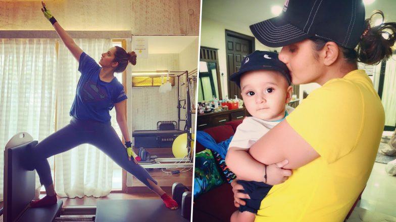 गर्भधारणा नंतर सानिया मिर्झा ने कमी केले26 किलो वजन, शेअर केला प्रेरणादाईWorkout व्हिडिओ