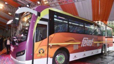 महाराष्ट्र परिवहन मंडळाने 'शिवाई' एसटी लॉन्च; एकदाच चार्ज केल्यावर 300 किमी पल्ला गाठणार