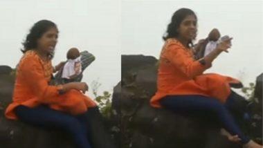 देवेंद्र फडणवीस यांच्या पुतळ्याचा सिंहगडावरुन कडेलोट; गड-किल्ले भाड्याने देण्याच्या निर्णयावर संतप्त तरुणीचा व्हिडीओ व्हायरल (Watch Video)