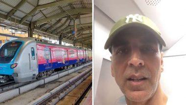 ट्रॅफिक मधील वेळ वाचवण्यासाठी खिलाडी अक्षय कुमार ने घाटकोपर ते वर्सोवा केला 'मेट्रो'तून प्रवास, पाहा व्हायरल व्हिडिओ