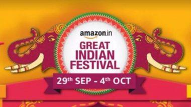 Amazon Great Indian Festival: अॅमेझॉनच्या या बंपर सेल मध्ये गॅजेट्ससह अन्य वस्तूंवर मिळणार आकर्षक सूट, 29 ते 4 सप्टेंबर पर्यंत असणार हा 'ग्रेट इंडियन फेस्टिवल'