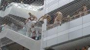 मुंबई: मंत्रालयात दोन शिक्षकांनी संरक्षक जाळीवर उडी मारल्याने खळबळ